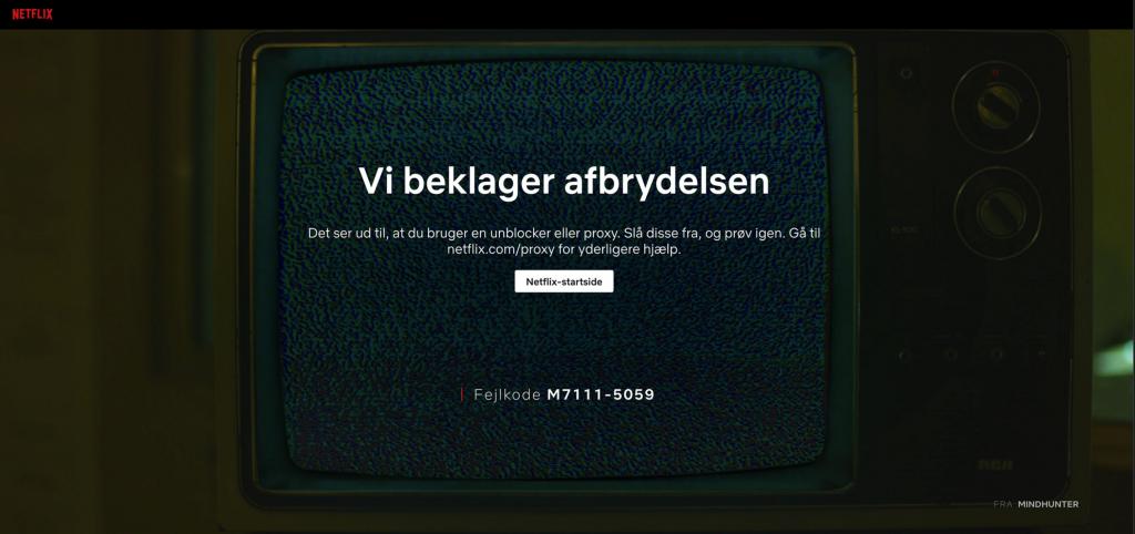 Netflix-fejlmeddelelse, når du bruger en VPN, der ikke fungerer